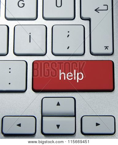 red help button on keyboard