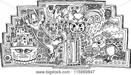 Maya decoration vector
