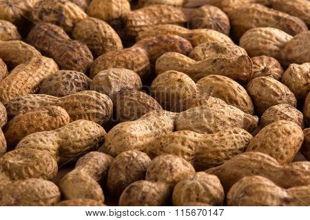 Unshelled Peanuts As Background