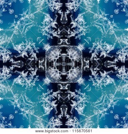 kaleidoscope square: snow on geode
