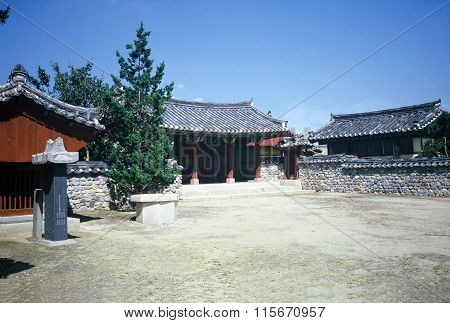 Courtyard of a Buddhist Temple