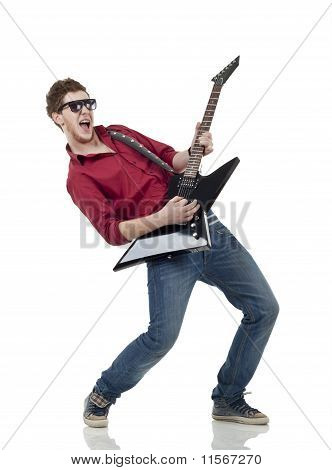 Rock Star With A Guitar