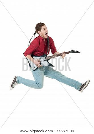 Famous Rock Star Screaming