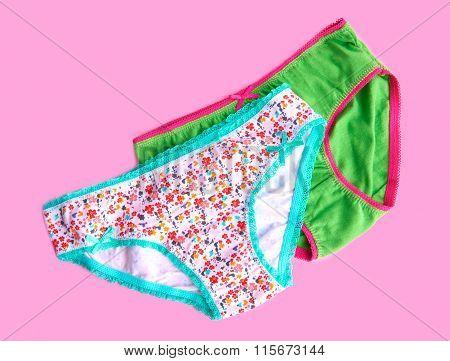 Underwear Isolated On Pink