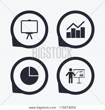 Diagram graph Pie chart. Presentation billboard.