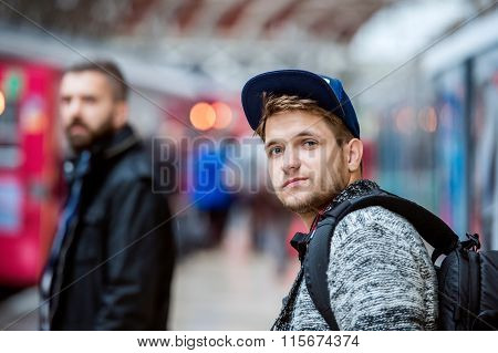 Young men in subway