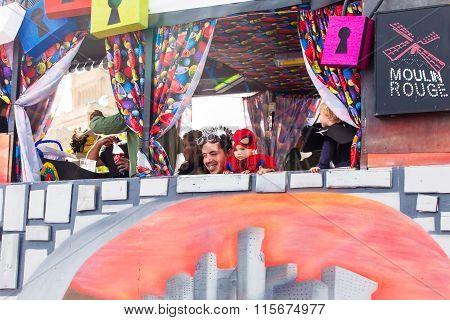TENERIFE, SPAIN -  MAR 4: In the famous Carnival the Santa Cruz de Tenerife, characters and groups t