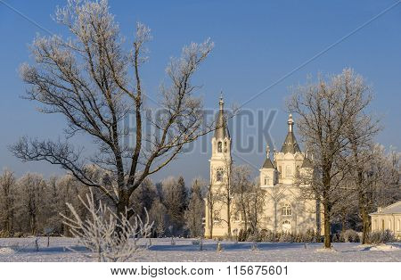Church In Winter Day
