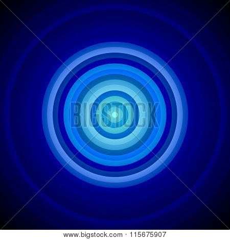 Concentric Blue And White Circles Background