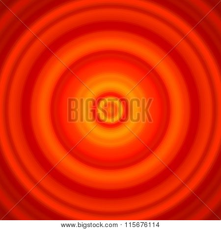 Concentric Red And Orange Circles Background