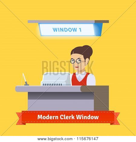 Modern technology teller window