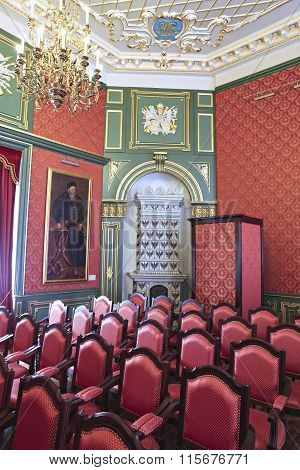 Conference Hall In Interior Of Nyasvizh Castle