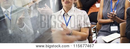 Audience Cheerful Presentation Awarding Clapping Concept