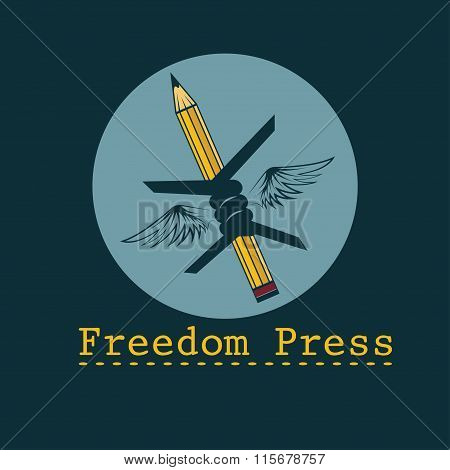 Freedom Press Concept Vector Design Template