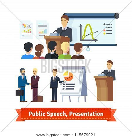 Businessman doing presentation