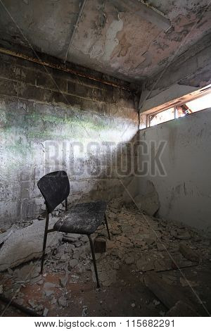 Abandoned Chair in Jail