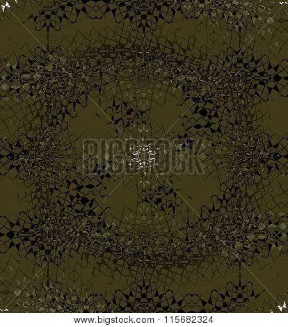 Seamless spiral pattern brown gold