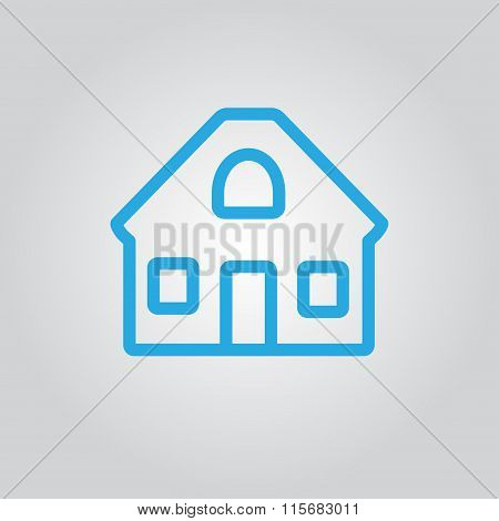 House Icon. House outline silhouette. Real Estate. Vector illustration.