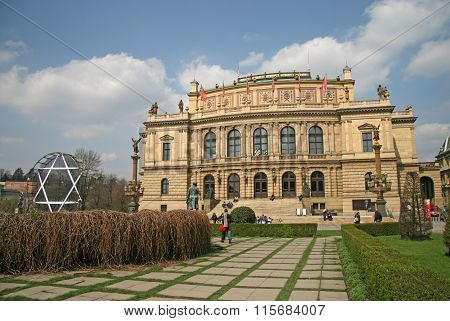 Prague, Czech Republic - April 16, 2010: The Rudolfinum - That Is The Historic Philharmonic Orchestr