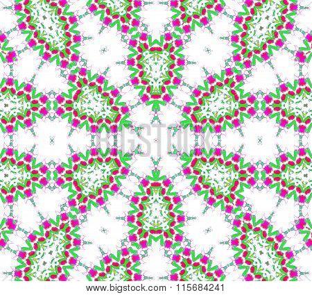 Seamless ellipse pattern white violet green