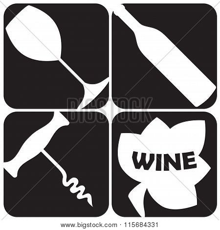 Wine and winery design elements. Wine background. Vector illustration.