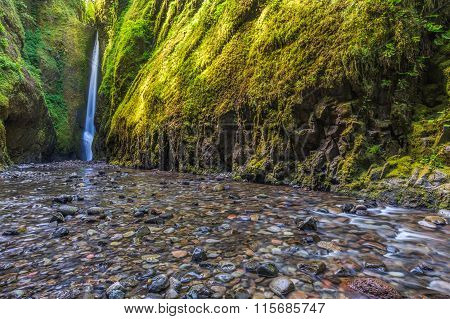 Oneonta Falls In Oneonta Gorge Trail, Oregon