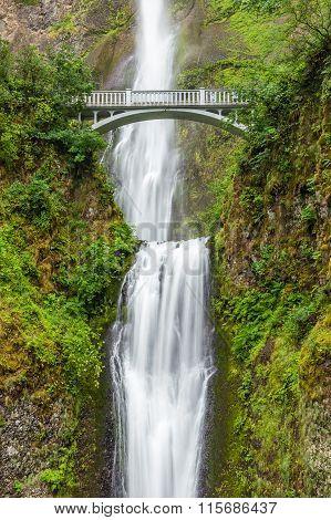 Famous Multnomah Falls In Columbia River Gorge, Oregon