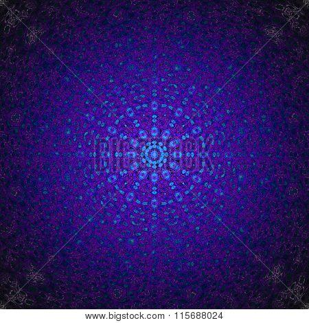 Seamless gradient circle ornament blue purple