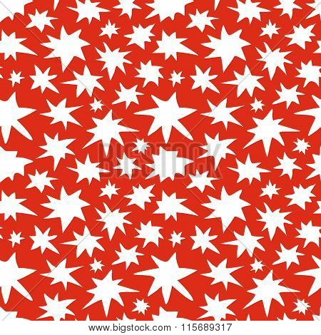 Abstract Stars Seamless Pattern Doodle Texture