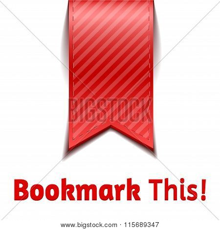Red Bookmarks On White Background Isolated