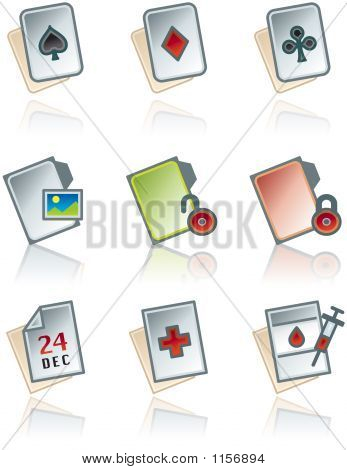 Design Elements 43B. Paper Works Icons Set