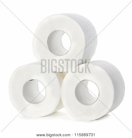 Toilet Paper Close-up Isolated On A White Background.