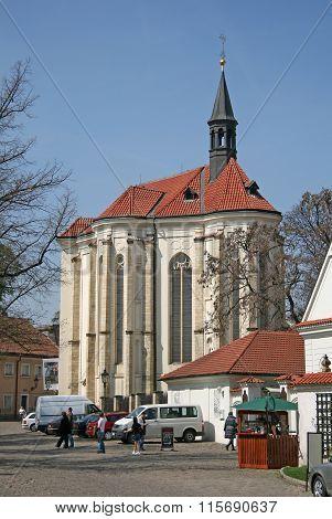 Prague, Czech Republic - April 24, 2010: Prague Strahov Monastery, Church Of St. Rochus In Prague, C
