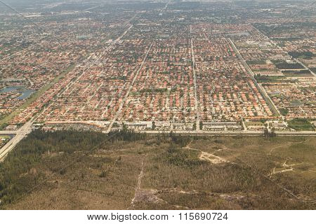 Aerial View From Miami Area