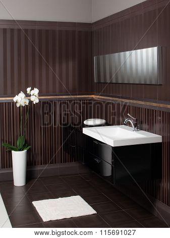 Modern Bathroom Sink And Bollard- Bathroom Interior