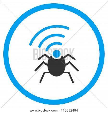 Radio Spy Insect Circled Icon