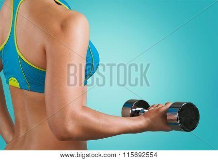 Exercising.