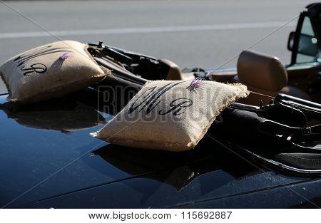 Black Convertible Open-top Car