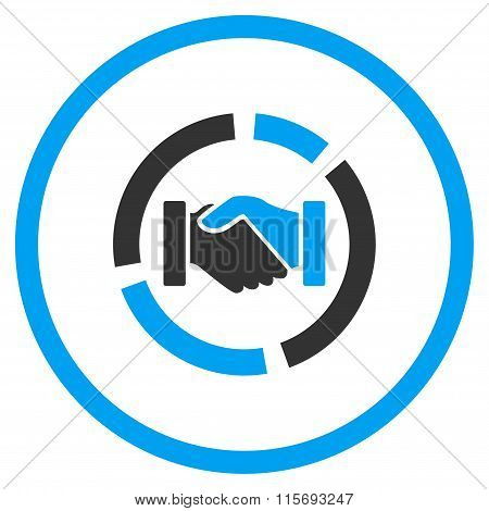 Handshake Diagram Rounded Icon