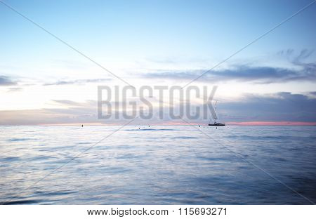 Beautiful Seascape And Sailing-boat
