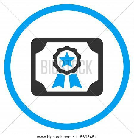 Certificate Circled Icon