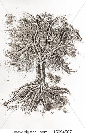 Finger Tracing Tree Sign Made In Ash