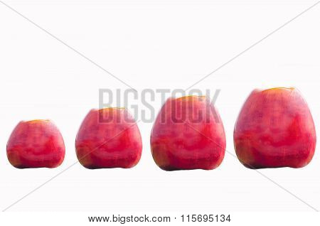 Red Apples In Various Sizes