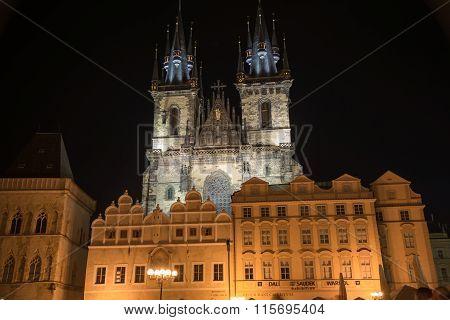 Old Town Hall By Night  - Prague - Czech Republic
