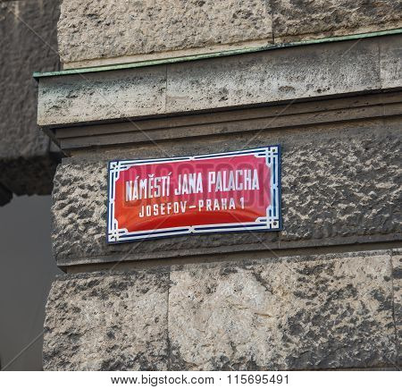 Square  Dedicated Jan Palach - Prague