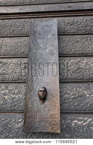 Memorial Stone Dedicated Jan Palach - Prague