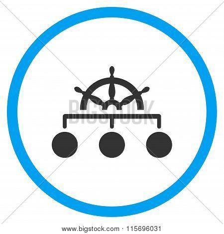 Management Rounded Flat Icon