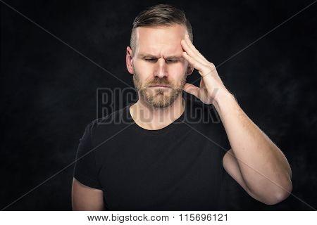 Headache in men.