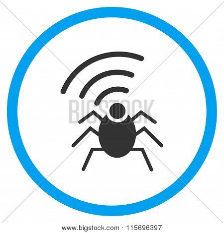Radio Spy Bug Rounded Icon