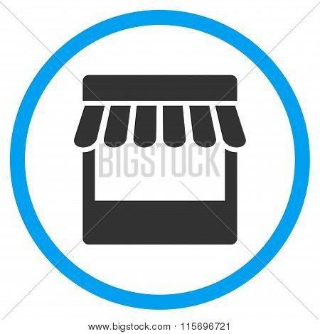 Store Facade Circled Flat Icon